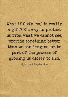 God's protection, provisions, & redirections