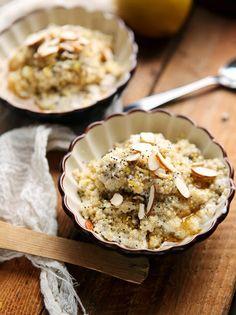 Coconut Lemon Quinoa Breakfast Cereal
