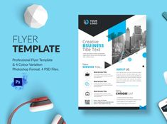 Business Flyer Template designed by BdThemes. the global community for designers and creative professionals. Business Flyer Templates, Photoshop, Creative, Graphics, Graphic Design