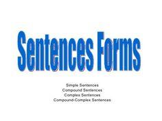 Simple, Compound, Complex, Compound Complex Sentences