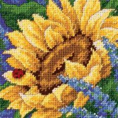 Jiffy Sunflower And Ladybug Mini Needlepoint Kit-5