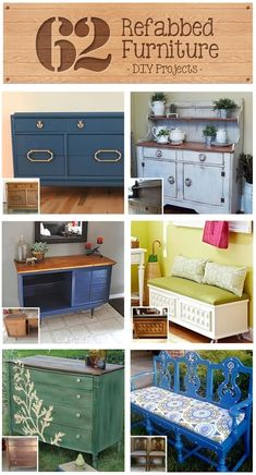 62 Refabbed Furniture Projects, curated by Recaptured Charm featured on Funky Junk Interiors - Model Home Interior Design Refurbished Furniture, Repurposed Furniture, Furniture Makeover, Painted Furniture, Rehabbed Furniture, Chair Makeover, Furniture Projects, Furniture Making, Home Projects