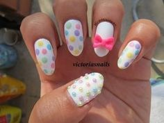 dots and bow   cute together
