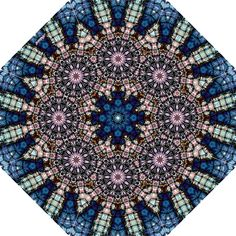 Folding Umbrella Blue Kaleid