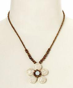 Love this White Howlite Jennifer Pendant Necklace by Elly Preston Jewelry on #zulily! #zulilyfinds