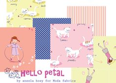 Hello petal color 2 - can't wait for this line! So cute for little girls. I think B needs something with that kitty cat fabric
