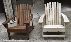Home Depot unfinished adirondack chairs for $36 with wood stain and sealer! & Adirondack chairs   Do It Yourself Home Projects from Ana-White.com ...