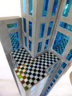 Urban (detail) Concrete & glass. Rob Matthews- hiddenspringdesigns.com