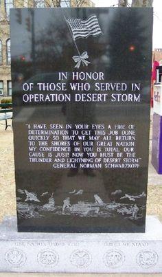 Guernsey County Desert Storm Memorial - Cambridge, Ohio - Persian Gulf War Memorials on Waymarking.com