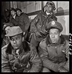 ✯ Tuskegee Airmen: In spite of adversity and limited opportunities, African Americans have played a significant role in U.S. military. They were denied military leadership roles and skilled training. Before 1940, African Americans were barred from flying for the U.S. military.         Civil rights & black press  exerted pressure that resulted in the formation of an all African-American pursuit squadron based in Tuskegee, Alabama, in 1941. They became known as the Tuskegee Airmen.✯