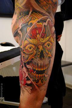 by Tattoo by Johan Finné. @eviltwinsjohan on instagram