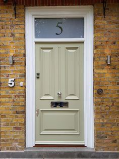 Georgian Front Door With Overhead Panel | Georgian Front Doors ...