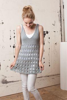 LANG YARNS FATTO A MANO 197 - SPRING # 44 Sol Lang Yarns, Fiber, Creations, Spring Summer, Knitting, Crochet, Crafts, Diy, Dresses
