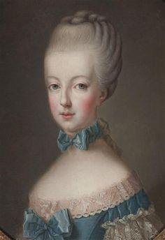 A portrait of Marie Antoinette after Joseph Krantzinger. 18th century [credit: Photo (C) Château de Versailles, Dist. RMN-Grand Palais / Christophe Fouin]