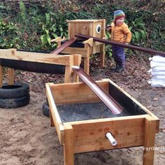 Our portapump, water trough and holey boards combined for hours of splashy fun!