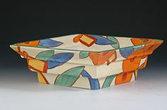 Andrew Muir   Clarice Cliff, Art Deco Pottery, Moorcroft and 20th Century Ceramics Dealer'Bobbins' 394 shape stepped bowl