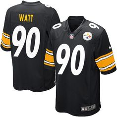 5cc0ebe58 Nike T. J. Watt Game Black Home Men s Jersey - NFL Pittsburgh Steelers  90  Jersey Outfit