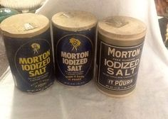 Three 1970's Reproductions of Morton Salt Boxes by 3birdz on Etsy