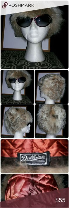Vintage DALLAIRE Fur hat Beautiful classy vintage fur hat, a head turner paired with right outfit. Good vintage condition(1960s) The lining has a spot inside (see pic) Size s/m DALLAIRE Accessories Hats