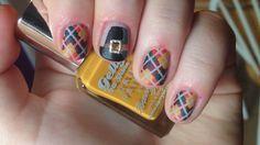 Autumn Argyle / Thanksgiving Nails
