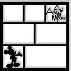 All About the Mouse - Laser Die Cut Scrapbook Overlay