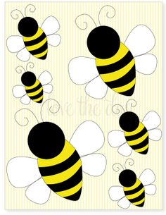 PRINTABLE PARTY DECALS  Bumble Bee Birthday Party by lovetheday, $5.00
