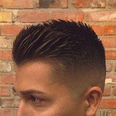 Spikey crewcut, men's hairstyles (2015/2016)