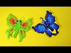 ▶ Rainbow Loom Charms Butterfly Tutorial - YouTube