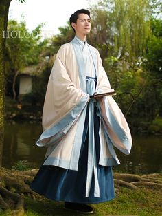 Skirt Tops Ancient china clothing Men Hanfu Jacket and Outfits Chinese Man, Chinese Style, Chinese Dress Traditional, Hanfu, Ancient China Clothing, Chinese Clothing, Japanese Outfits, Chinese Culture, Historical Costume