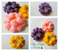 Mi hobby es ganchillo: Tejer Dahlia Flower- Patrón gratuito con Phototutorial