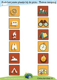 * Picto's 1 TIP: Plastificeren gebruik gekleurde noppen zo heb je een extra spel i.p.v. een werkblad!