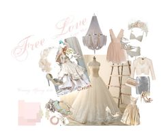 """""""Free Love"""" by bbcm on Polyvore featuring Agent Provocateur, Wedding Belles New York, Kate Spade, Vivienne Westwood, Ted Baker, Kenneth Jay Lane, Toni Federici, Betsey Johnson, Rosantica and Badgley Mischka"""