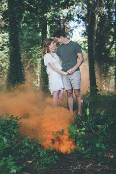 Matt Fox Photography - Wiltshire Wedding Photographer - Blog - Joe & Chloe // Engagement // Smoke Bomb Shoot