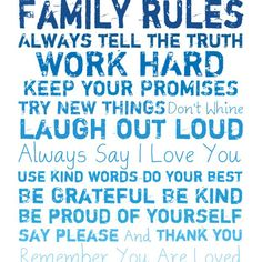 #Quotes Family Rules admired by our rattan... | Wicker Blog  www.wickerparadise.com