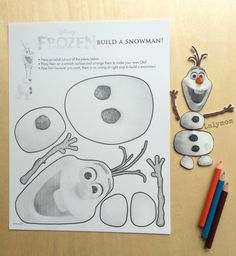 DIY Frozen Olaf Shrinky Dinks from Free Frozen Printable. From Lalymom