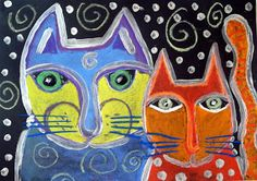 Drawing Practice The Inner World: Laurel Burch cats