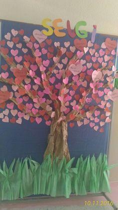 kalpleri okuldaki tüm sınıflara dağıtıp, öğrencilerin sevgi hakkında görüşleri alarak oluşturulmuştur.
