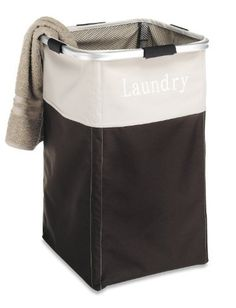Whitmor 6205-2465-ESPR Easy Care Laundry Hamper, Espresso by Whitmor. $14.99. Mesh top maximizes capacity. Adjustable draw string closure. Lightweight aluminum frame. Easy care Hamper. Vinyl interior for easy cleaning. This Easy care laundry hamper has an external lightweight aluminum frame rim with interior tent poles creating a sturdy laundry system. The heavy duty polyester exterior with laminated vinyl interior makes cleaning easy and the mesh top with an adjustable draw st...