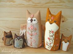 woodland friends by merwing✿little dear, via Flickr