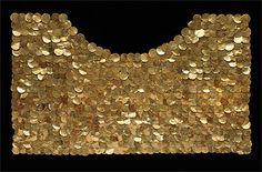 Peru ~ North Coast | Pectoral; gold and copper | Vicús culture | 100 BC - 400 AD