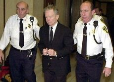 Former priest John Geoghan, a convicted child molester at the center of the sex abuse scandal that shook the Catholic church nationwide, died after being strangled by a fellow inmate convicted of murder, authorities said. Geoghan, 68, was attacked just before noon Saturday August 23, 2003 by Joseph L. Druce, 37, said Worcester District Attorney John J. Conte.
