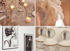 vintage theme wedding centerpieces | Wedding Ideas: 1920s Vintage Inspired Gowns, Cocktails, Accessories ...