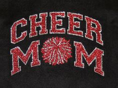 Women's Glitter Bling Cheer Mom shirt by RedheadedMonkeys on Etsy, $20.00