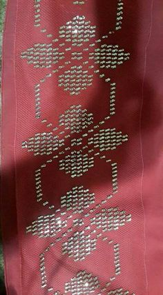 This Pin was discovered by Öze Weaving Patterns, Knitting Patterns, Palestinian Embroidery, Cross Stitch Borders, Bargello, Egyptian Art, Needle And Thread, Artsy Fartsy, Hand Embroidery