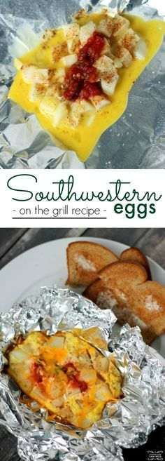 Southwestern Eggs on the Grill Recipe! Grilling Recipes for Summertime! If you love grilling out, these barbecue recipes are perfect!
