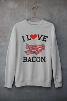 #bacon #sweatshirt #sweatshirtseason #sweatshirtfashion #mensfashion #mensfashionwinter #foodie #fashionwomens Bacon Gifts, Best Clothing Brands, Rainbow Quote, Parent Gifts, Cool Items, Graphic Sweatshirt, T Shirt, Hoodies, Sweatshirts