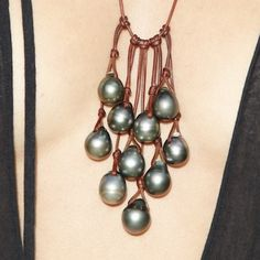 Mignot St. Barth. Necklace featuring tahitian pearls. – Mignot St Barth