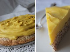 Almond torte with butter cream - t you need translation give me a holler! Raw Cake, Scandinavian Food, Low Calorie Recipes, Low Carb Keto, Raw Food Recipes, Cupcake Cakes, Food Porn, Good Food, Lchf