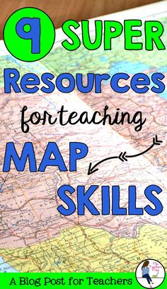 There are awesome resources available online for teaching map skills - from worksheets to interactive notebooks to Youtube videos! Click here to check them out. #map #school #teachers #mapping #mapskills #elementary #middleschool #teaching #homeschool