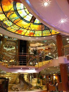 The fabulous atrium of P and O's Oceana.